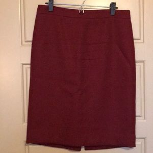 J. Crew No. 2 Pencil Skirt Wool Rust 10